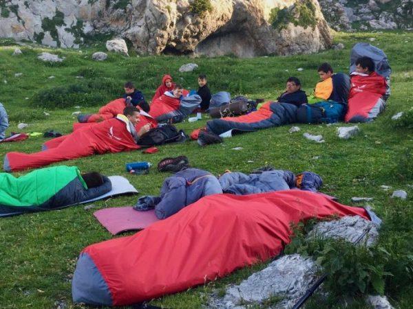 Funda de vivac a les Colònies Estiu Pyrene.